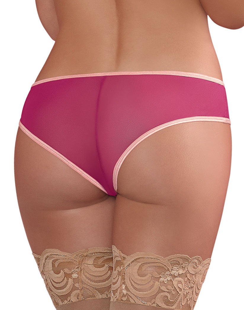 Cranberry Back Exposed Cranberry Crush Crotchless Panty M137