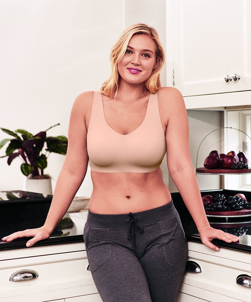 Sand Front Wacoal Flawless Comfort Wirefree Bra 852226