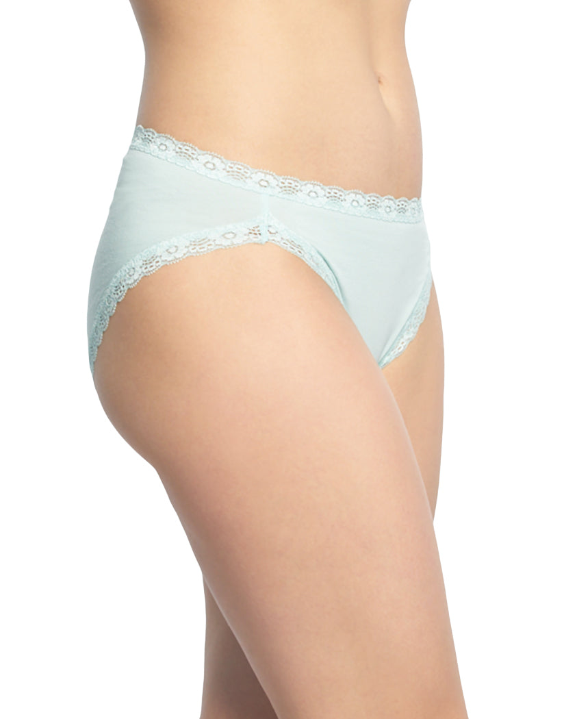 Icy Morn/Dark Sapphire/Heather Grey Side Felina 3-Pack Hi-Cut with Lace Trim Panty