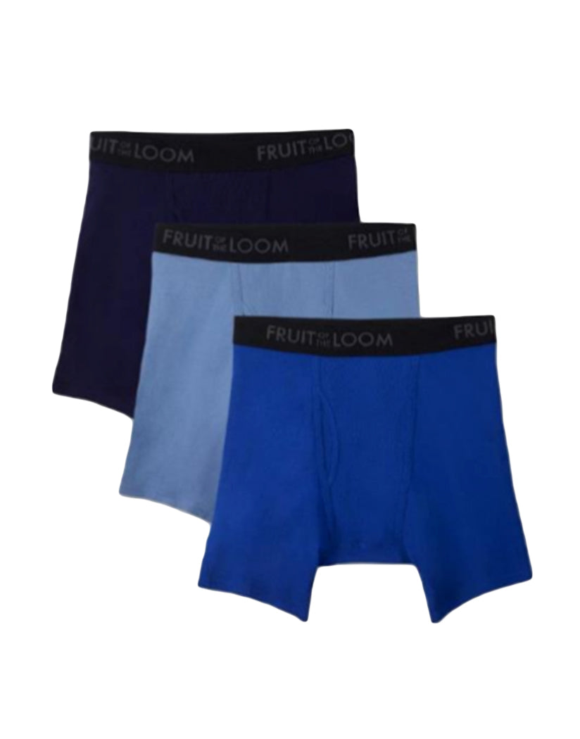 0cbd2e4a17db Assorted Front Fruit of The Loom 3 Pack Breathable Assorted Color Boxer  Brief BM3P76C
