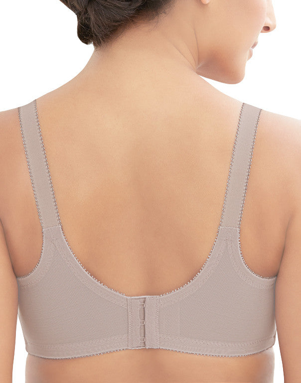 Taupe Back Comfort Lift Classic Lace Support Bra