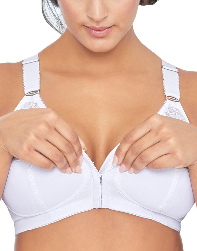 White Front Comfort Lift Posture Back Support Bra Wirefree