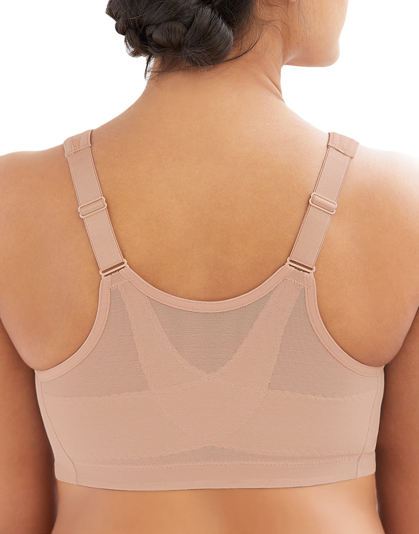 Cafe Heather Back Glamorise Magic Lift Comfort Wirefree Bra with Posture Back 1264