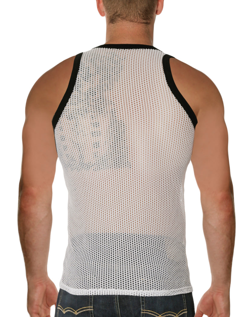 White Back Go Softwear Hardcore Chain Link Tank Top