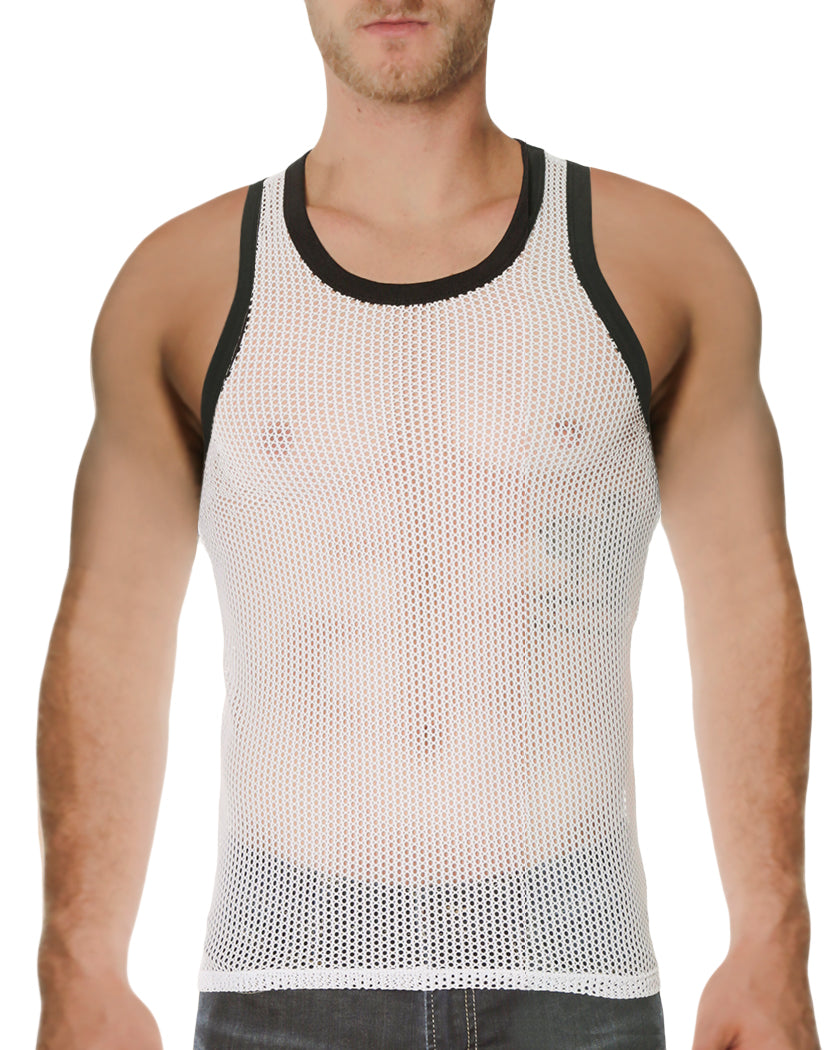 White Front Go Softwear Hardcore Chain Link Tank Top