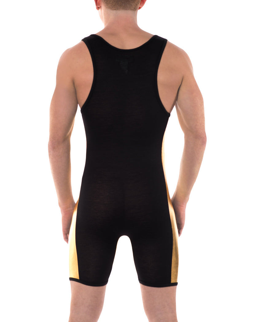 Black/Gold Back Go Softwear Hardcore Gold Singlet