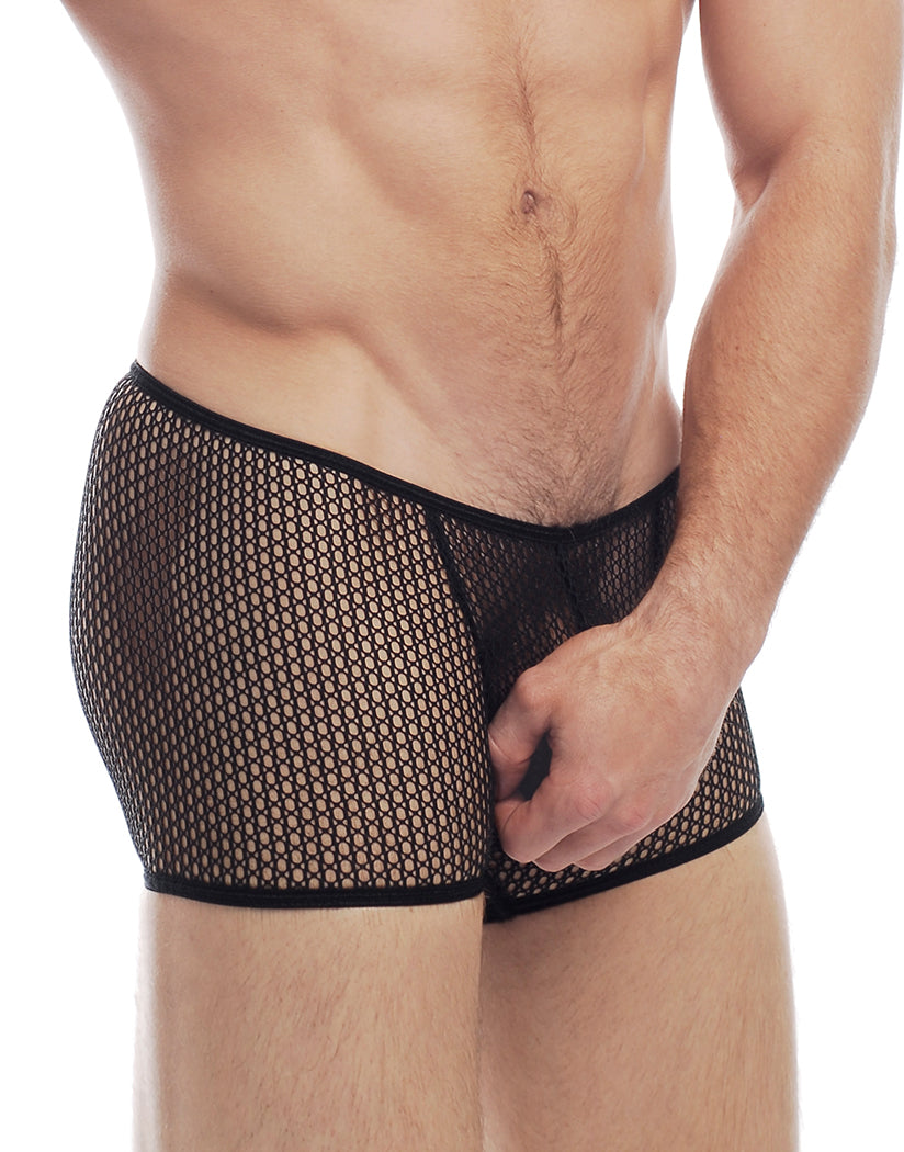 Black Side Euro Mesh Sq Cut Boxer