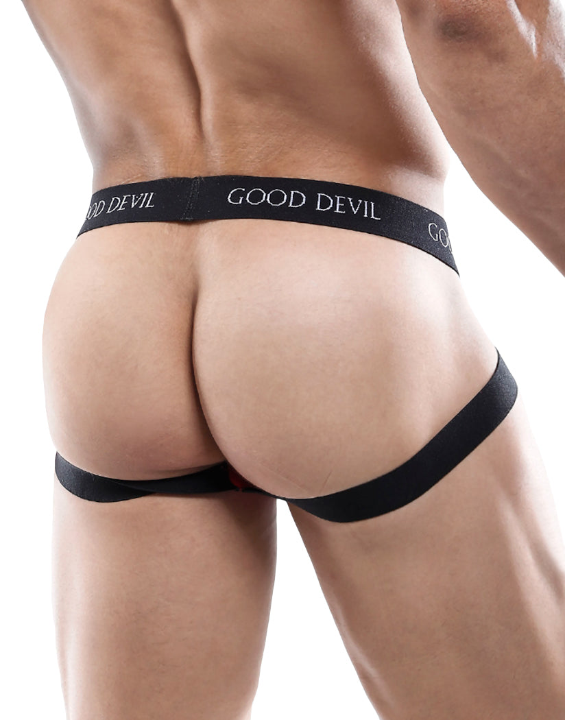 Red Back Good Devil Contour Jockstrap GDE029