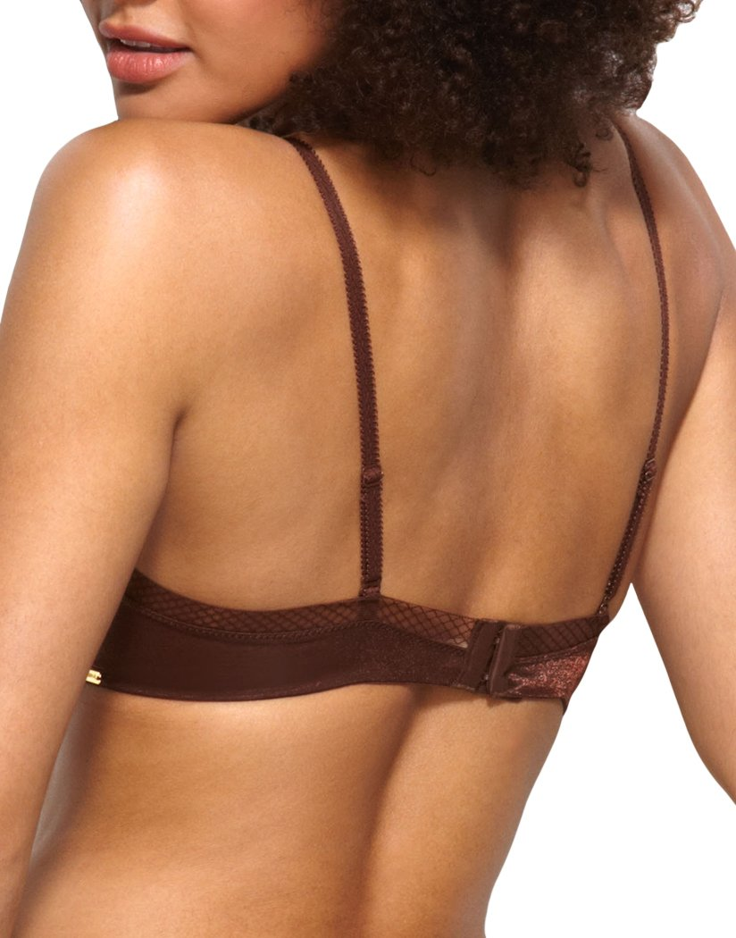 Rich Brown Back Gossard Glossies Sheer Molded Bra 6271
