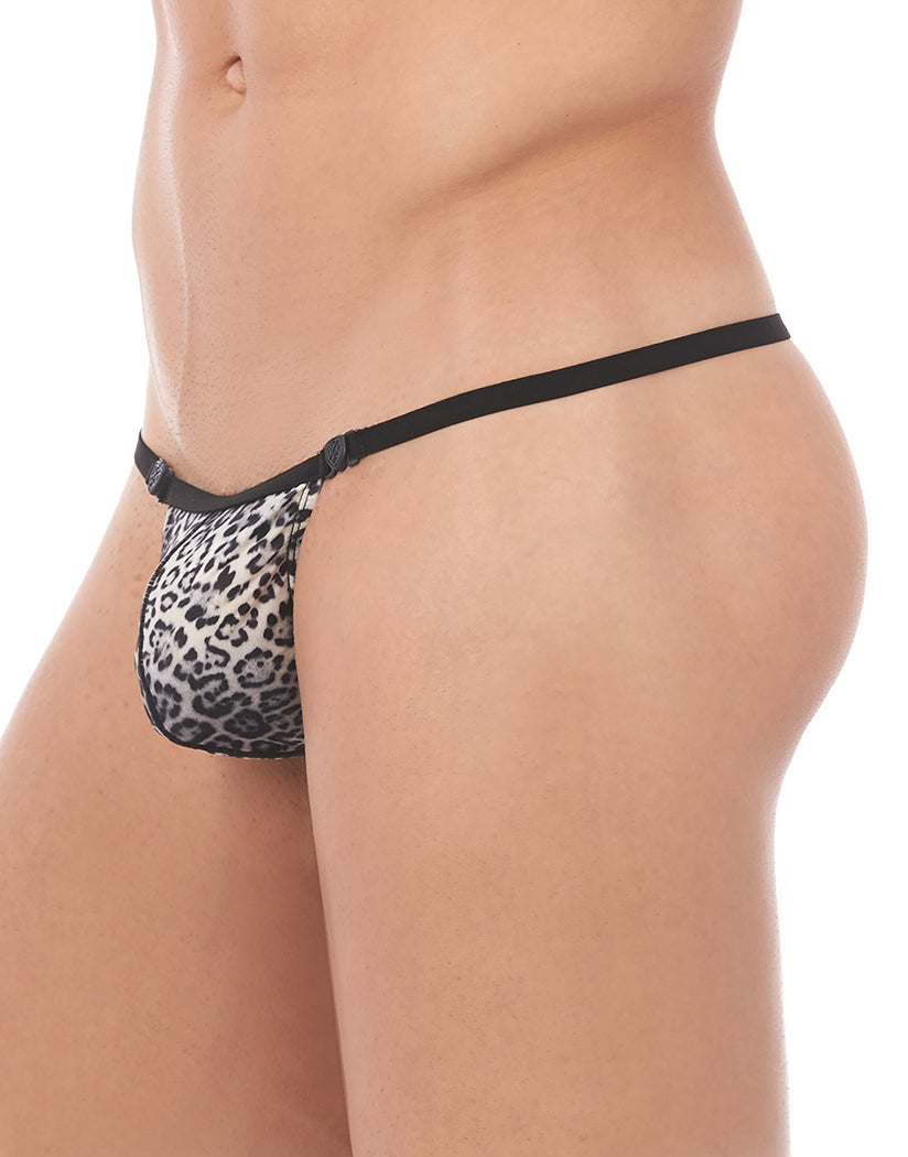 Natural Leopard Side Gregg Homme Desire Pouch