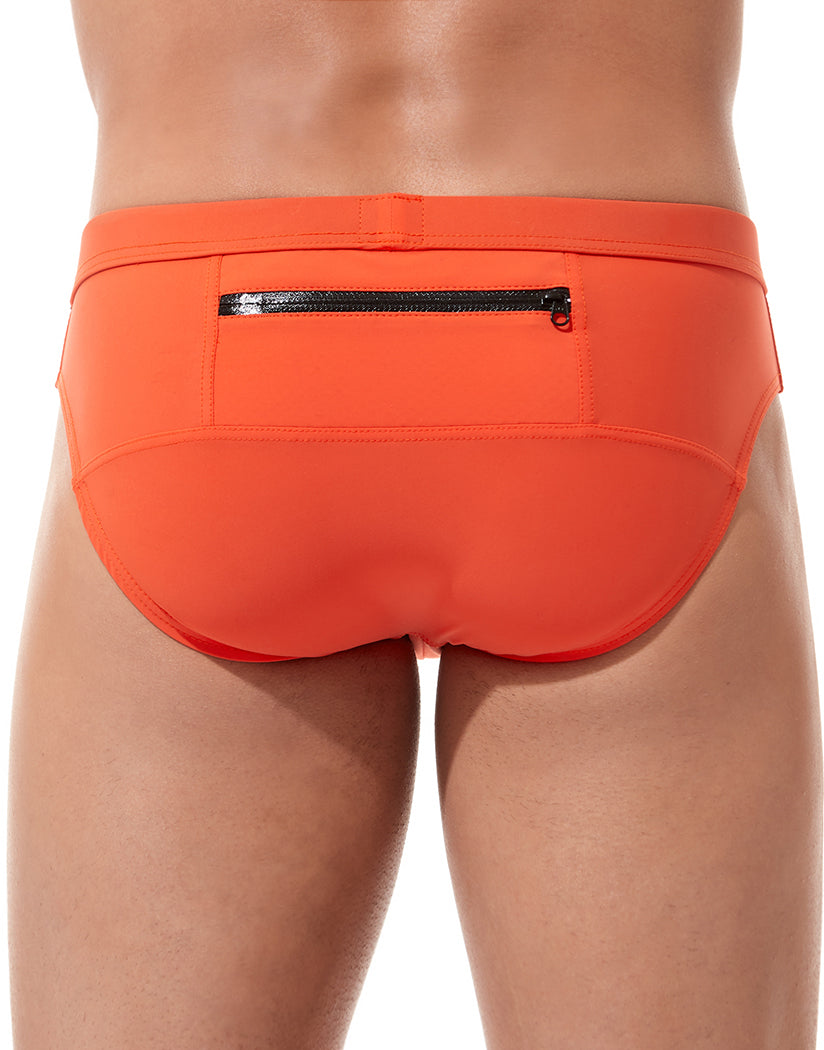 Orange Back Gregg Homme Exotic Brief Swimwear 161203
