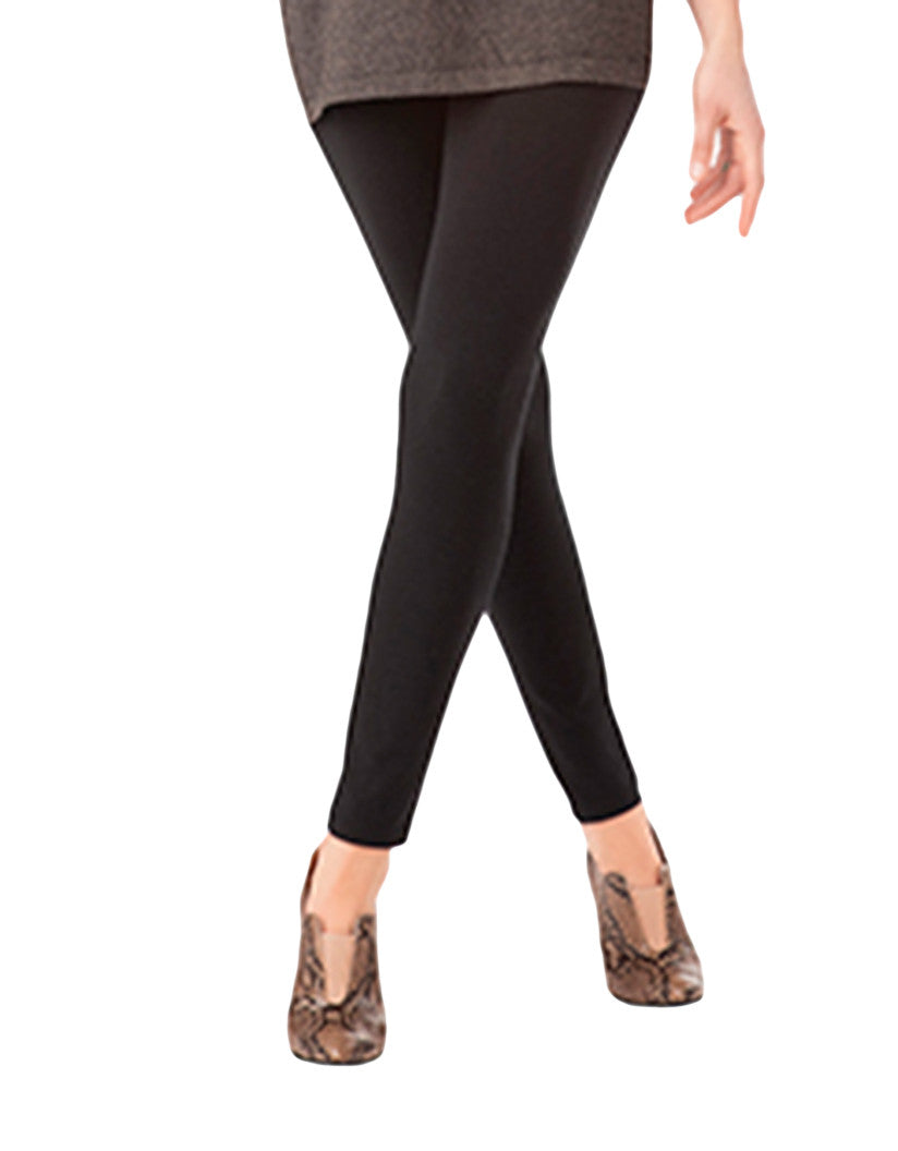 Black Front Ultra Leggings with Wide Waistband