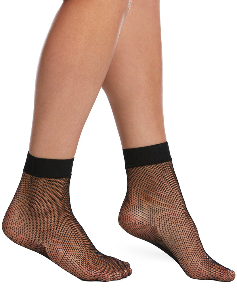Black Front HUE Sporty Fishnet Anklet