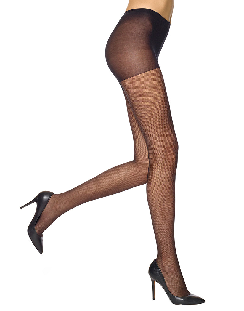 Black Front HUE Micro Mesh Tights with Control Top 5966N