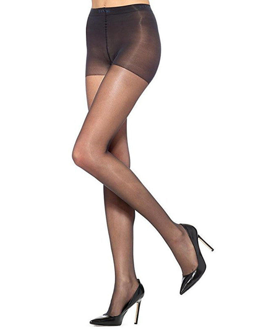 Black Front HUE Age Defiance Control Top Pantyhose
