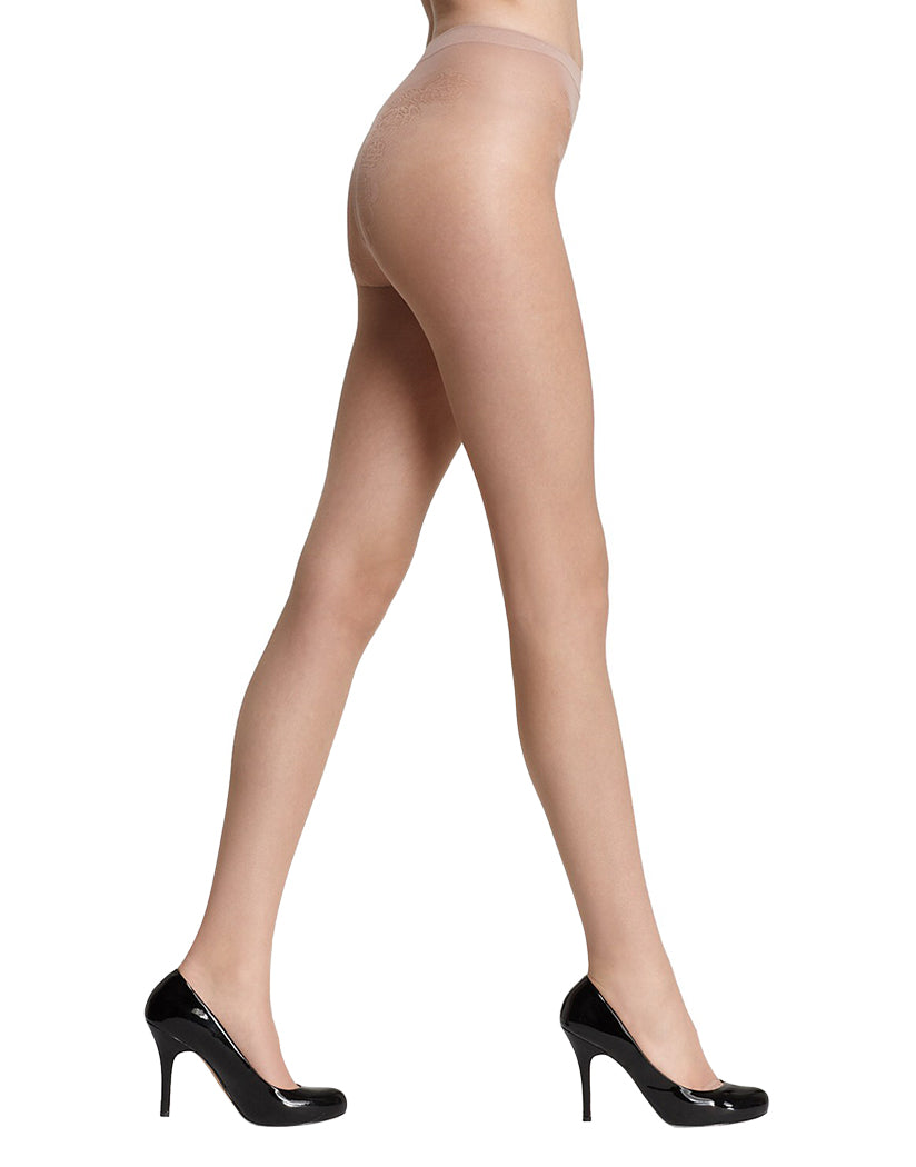 Natural Front HUE Toeless Control Lace Pantyhose