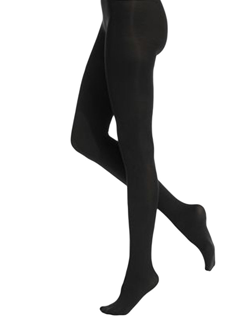 Black Front HUE Super Opaque Tight with Control Top 6620