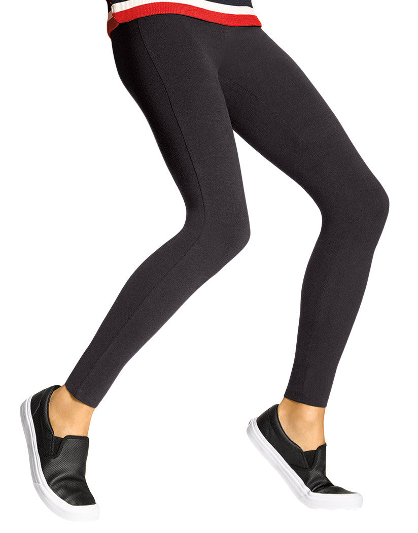 Black Front Temp Control Cotton Leggings