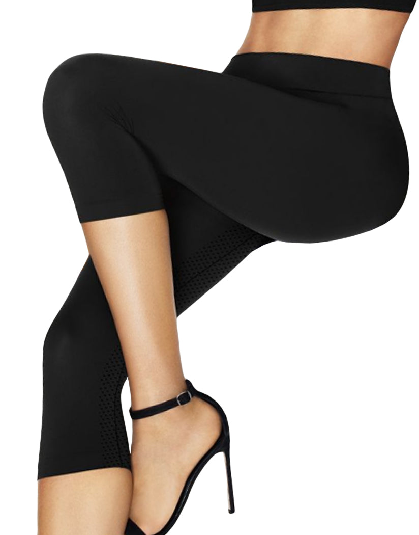 b0ab345e39c6f Black Front Hanes Perfect Bodywear Seamless Capri with ComfortFlex™  Waistband HST007