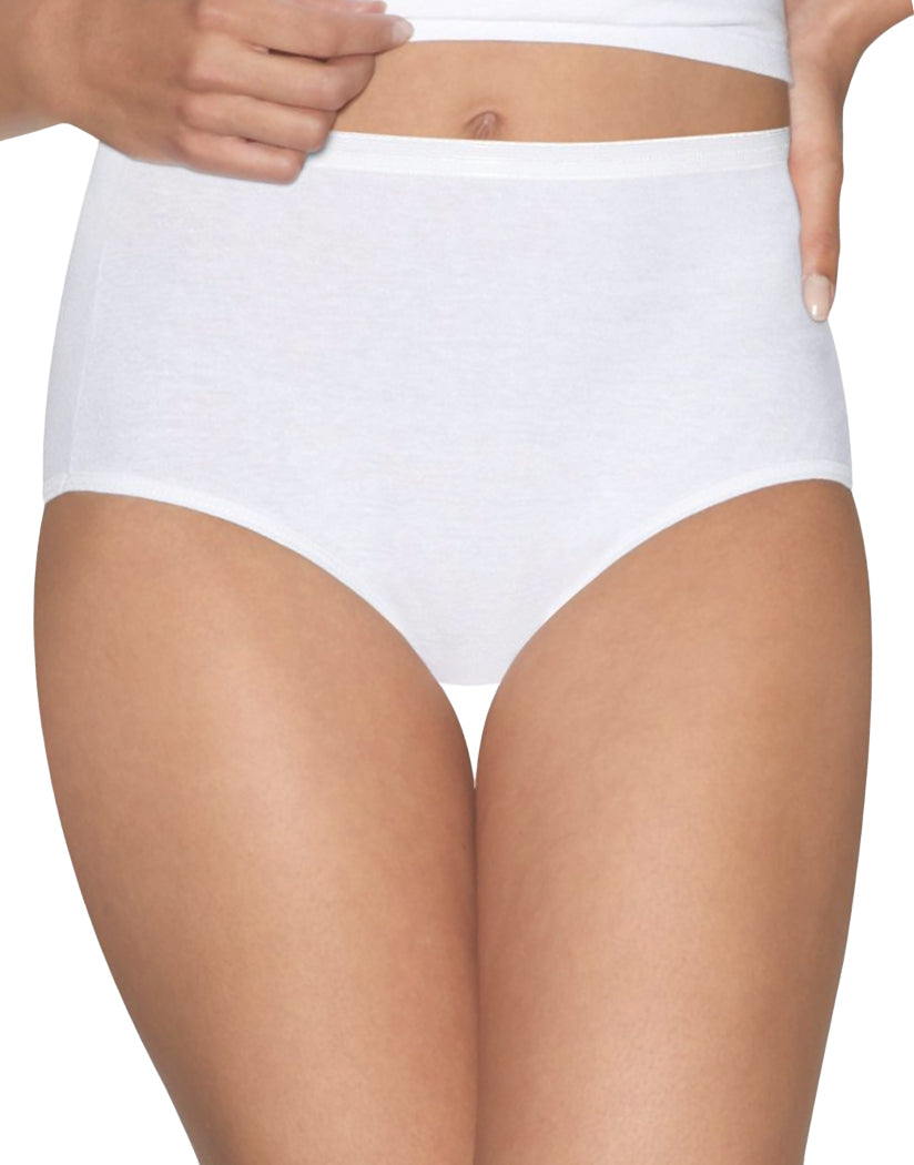 White Front Hanes Hanes Women Ultimate Comfort Cotton Brief Panties 5-Pack 40HUCC