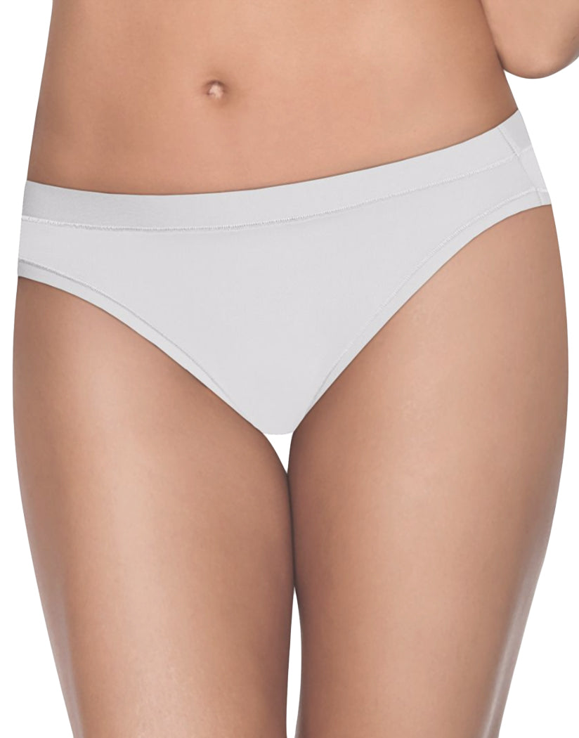 White/Oatmeal Heather/Soft Taupe Front Hanes Ultimate Cool Comfort Bikini