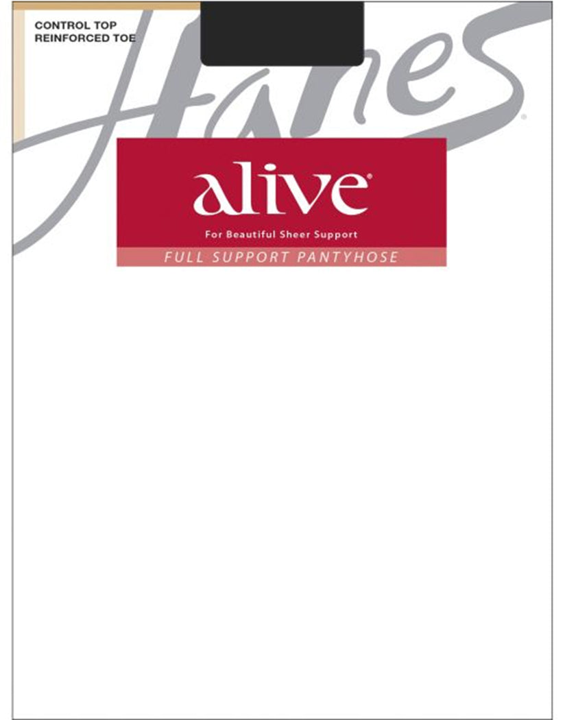 Jet Front Hanes Women Alive Full Support Control Top Pantyhose 810