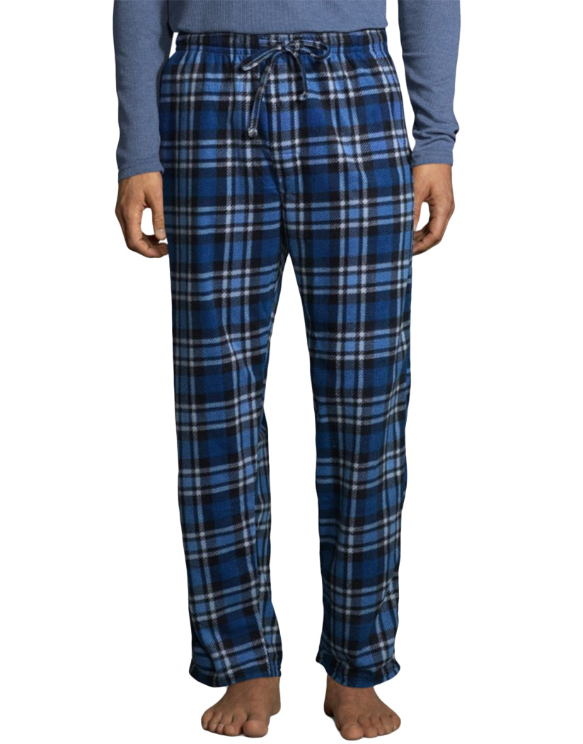Blue Heather Front Hanes X-Temp䋢 Men's Microfleece Sleep Set 03018