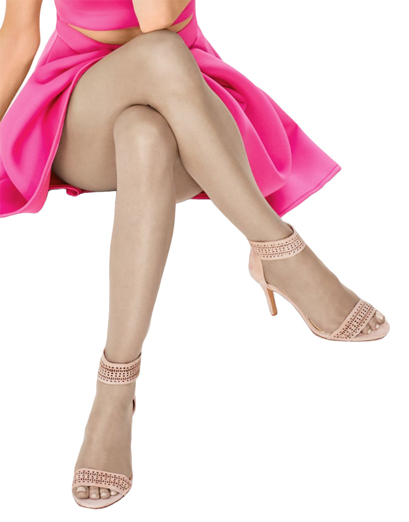84258df706d Buff Front Hanes Silk Reflections Ultra Sheer Toeless Control Top Pantyhose  0B376