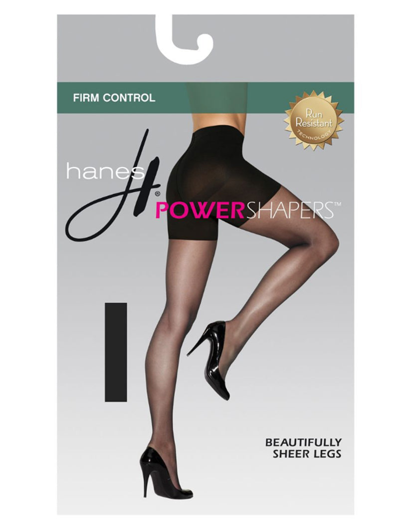 Black Front Hanes Women's Firm Control Power Shapers 0B987