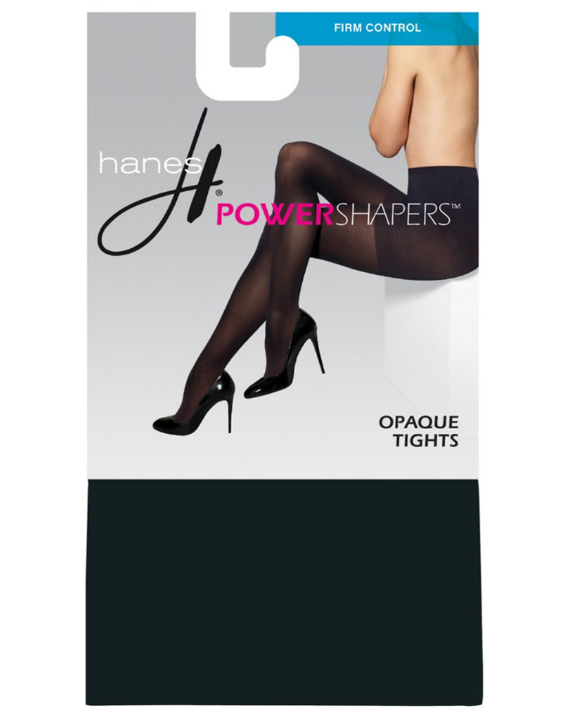Black Front Hanes Women's Firm Control Power Shaper Opaque Tights 0B990