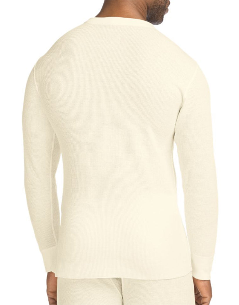 Natural Back Hanes X-Temp䋢 Men's Organic Cotton Thermal Crew
