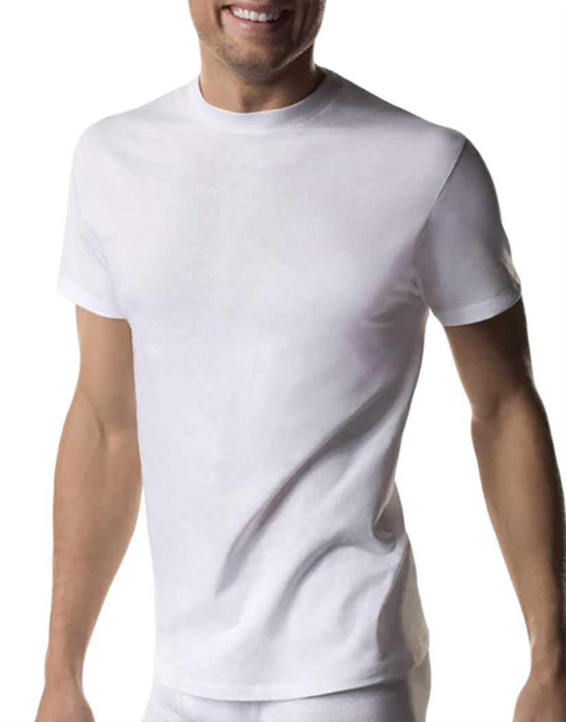 White Front Hanes 3-Pack Crew Neck T-Shirts White