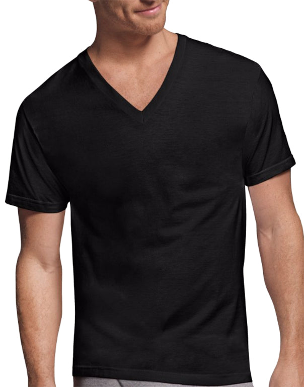 Hanes 4 Pack Classics Comfort Soft Dyed V-Neck T