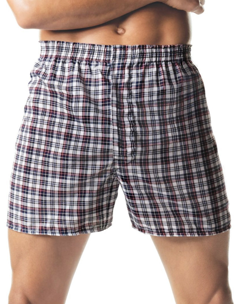 Assorted Front Hanes Men Tartan Boxers with Comfort Flex Waistband 2-Pack 838VTY