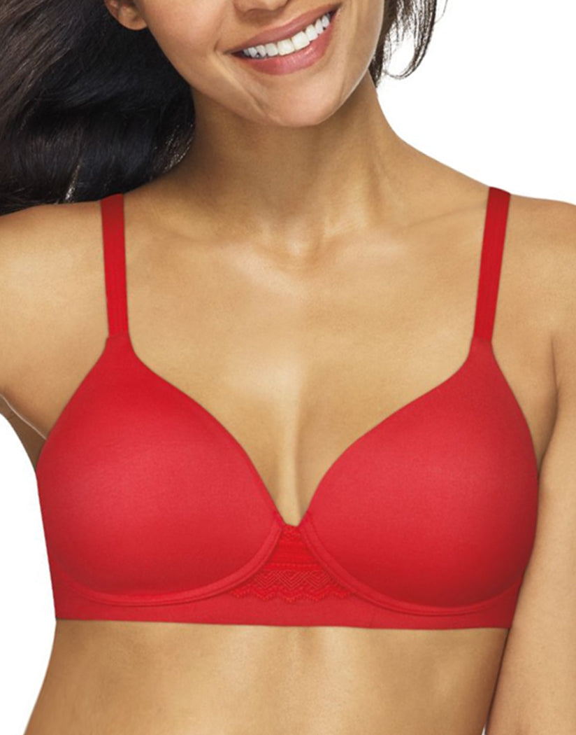 Crimson Front Hanes Women Ultimate Natural Lift Wirefree Bra DHHU25