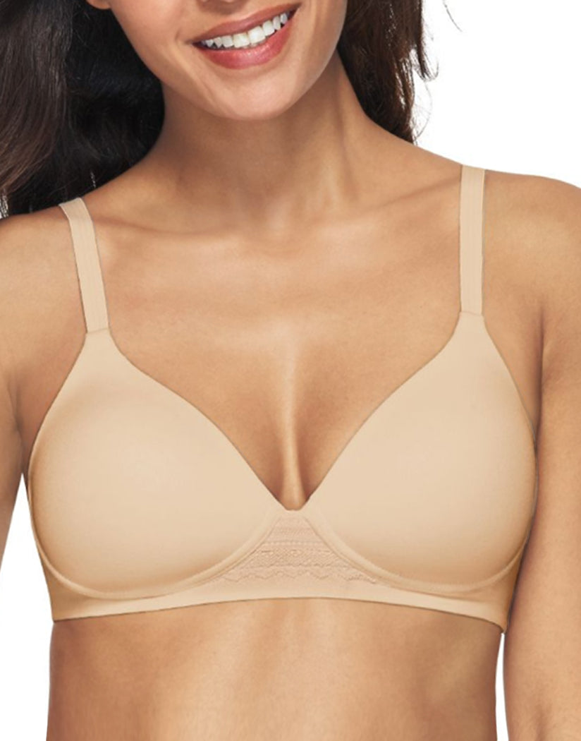 Soft Taupe Front Hanes Women Ultimate Natural Lift Wirefree Bra DHHU25