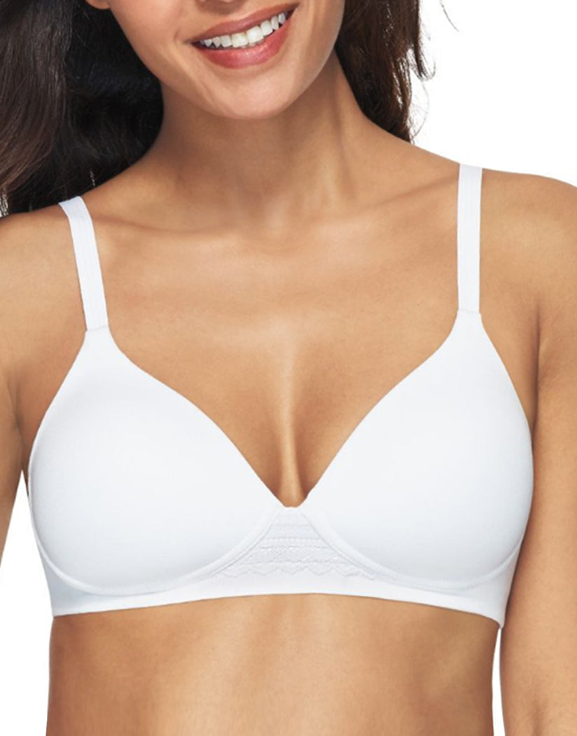 White Front Hanes Women Ultimate Natural Lift Wirefree Bra DHHU25