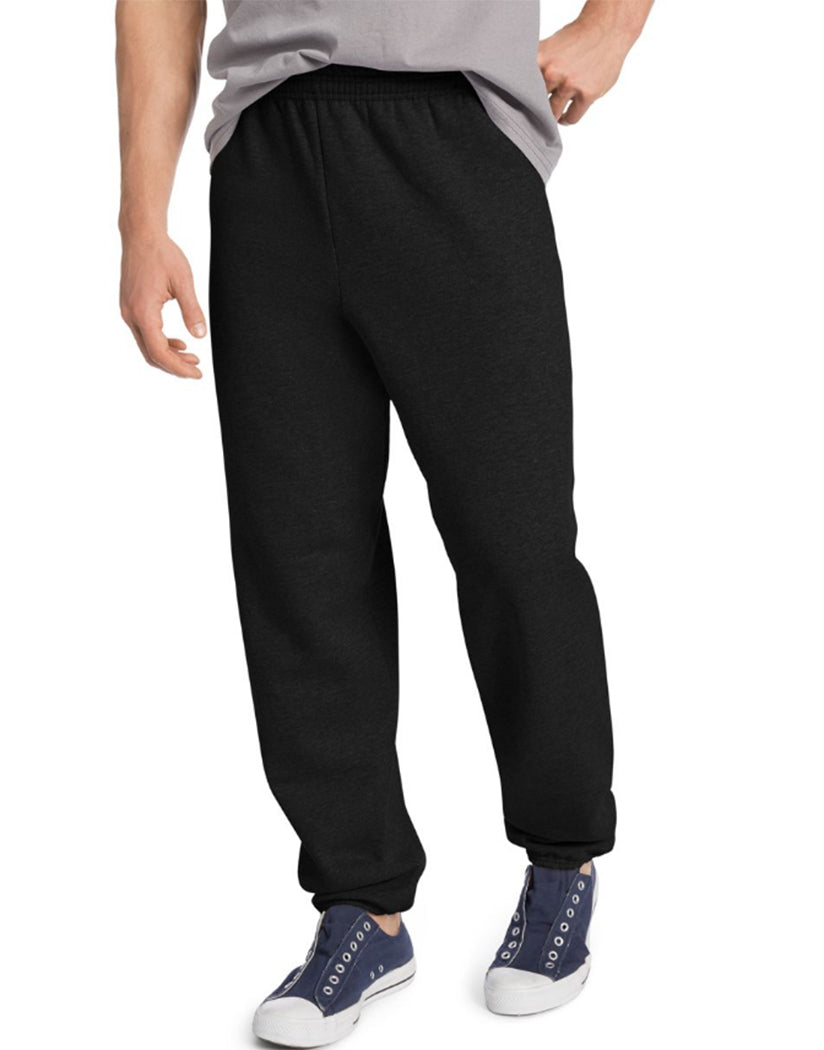 Black Front Hanes ComfortBlend® EcoSmart® Men's Sweatpants