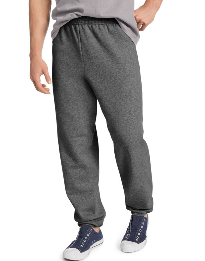Charcoal Heather Front Hanes ComfortBlend® EcoSmart® Men's Sweatpants