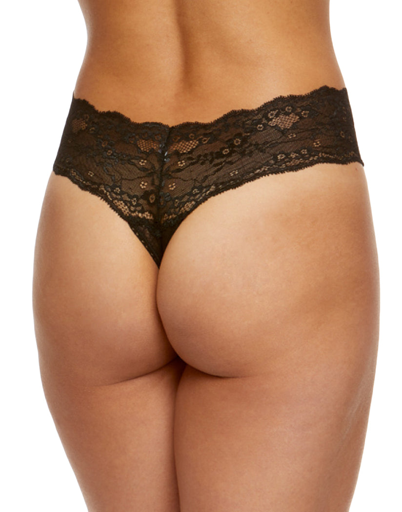 Black Back Hanky Panky American Beauty Rose Natural Rise Thong 1C1511