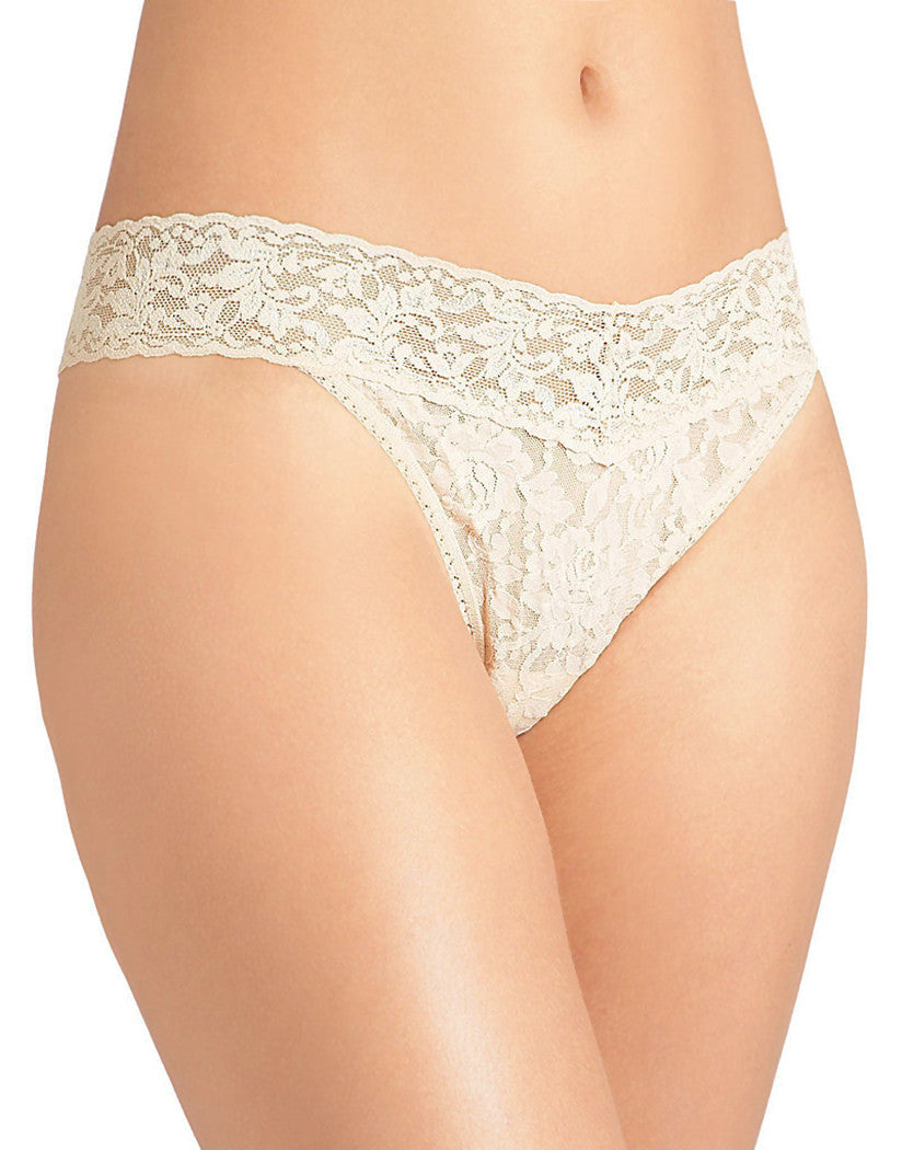 Ivory Front Hanky Panky Signature Stretch Lace Thong