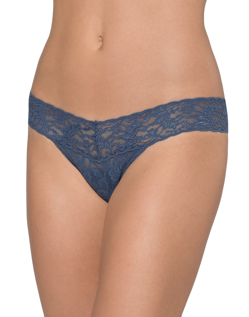 Nightshadow Front Hanky Panky Signature Stretch Lace Petite Low Rise Thong