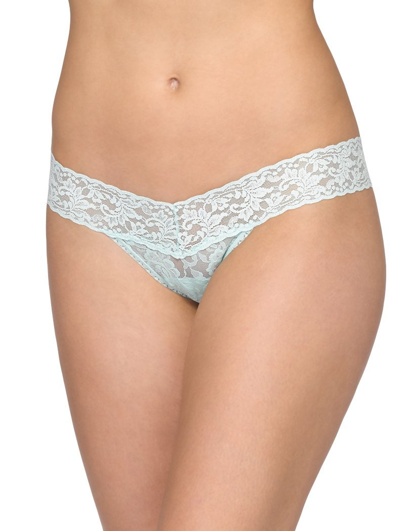 Pistachio Ice Front Hanky Panky Signature Lace Low Rise Thong