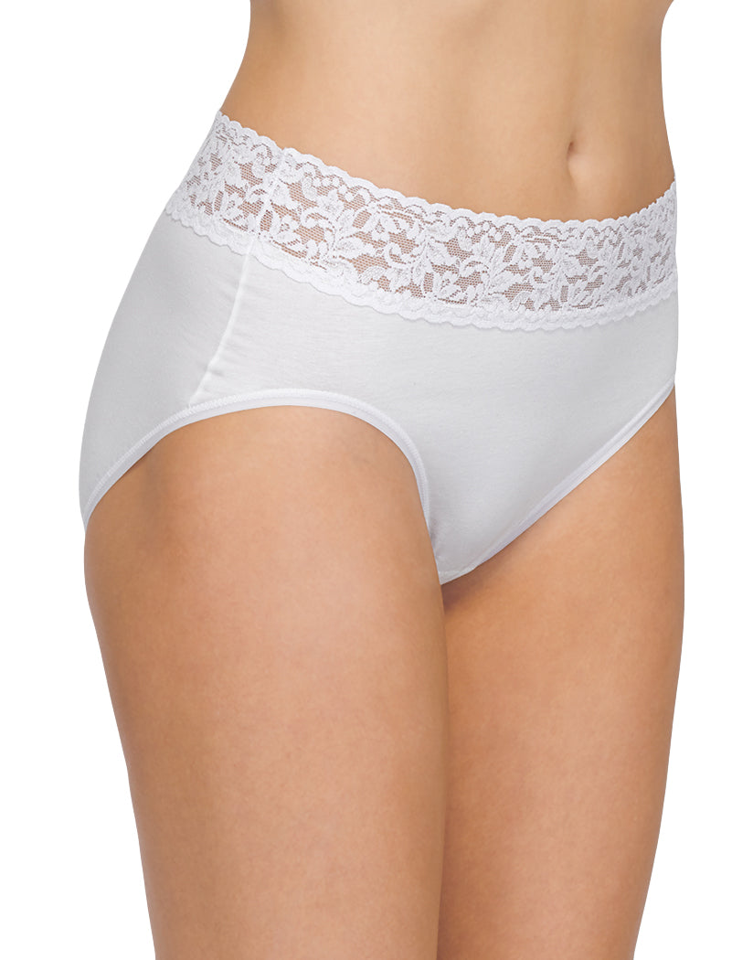 White Front Hanky Panky Cotton With A Conscience French Brief