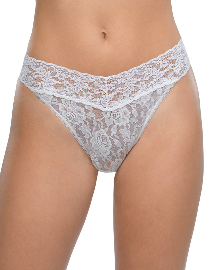 White Front Hanky Panky Signature Stretch Lace Thong