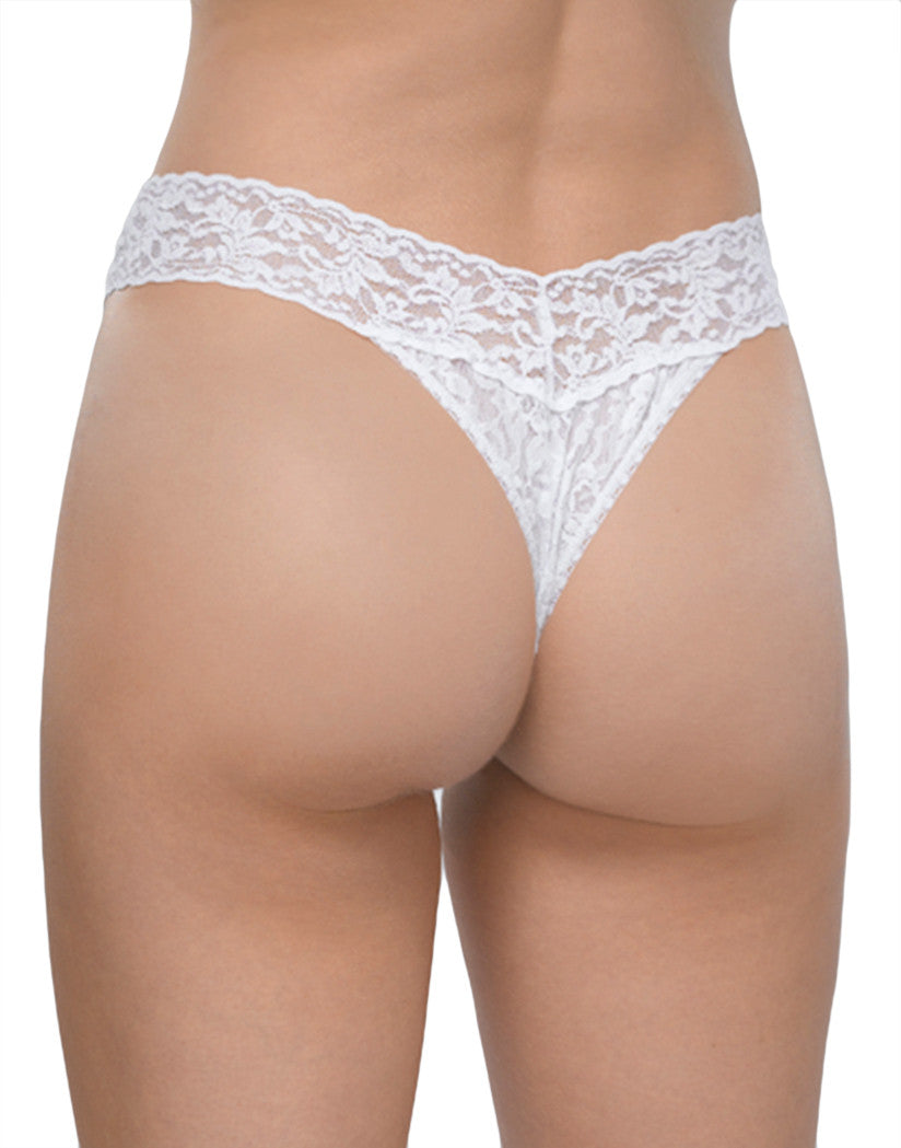 White Back Hanky Panky Signature Stretch Lace Thong
