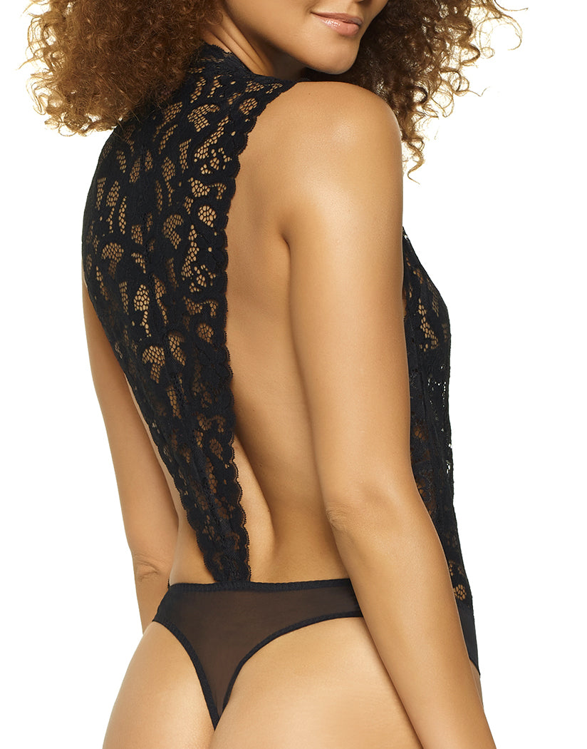 Black Back Jezebel Abbie Lace Bodysuit Black 999729