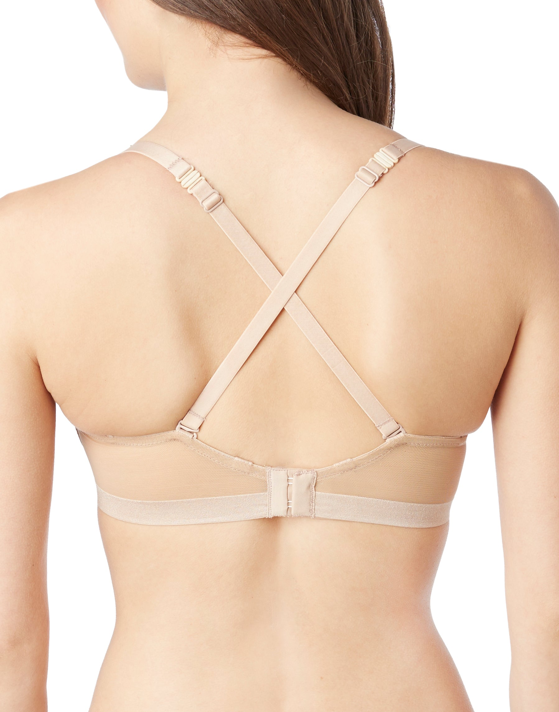 Natural Back Le Mystere Women's Infinite Underwire Convertible T-Shirt Bra 3324