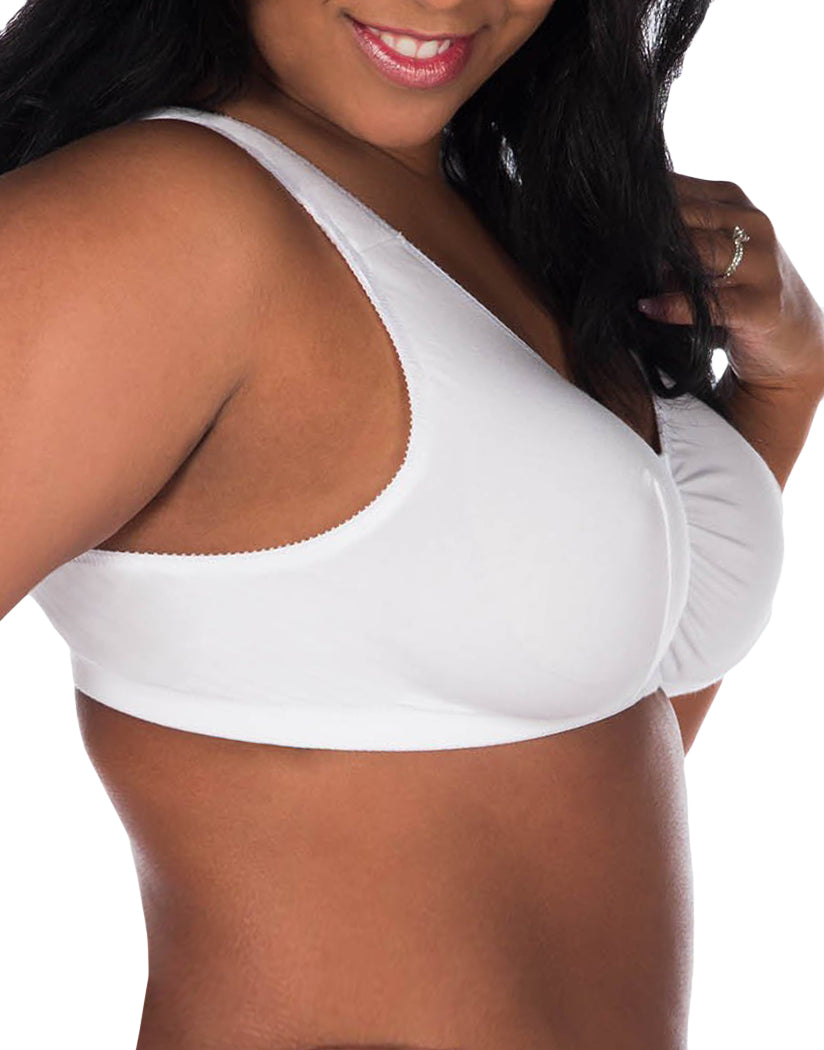 White Side Leading Lady Meryl Cotton Front-Closure Leisure Bra 110