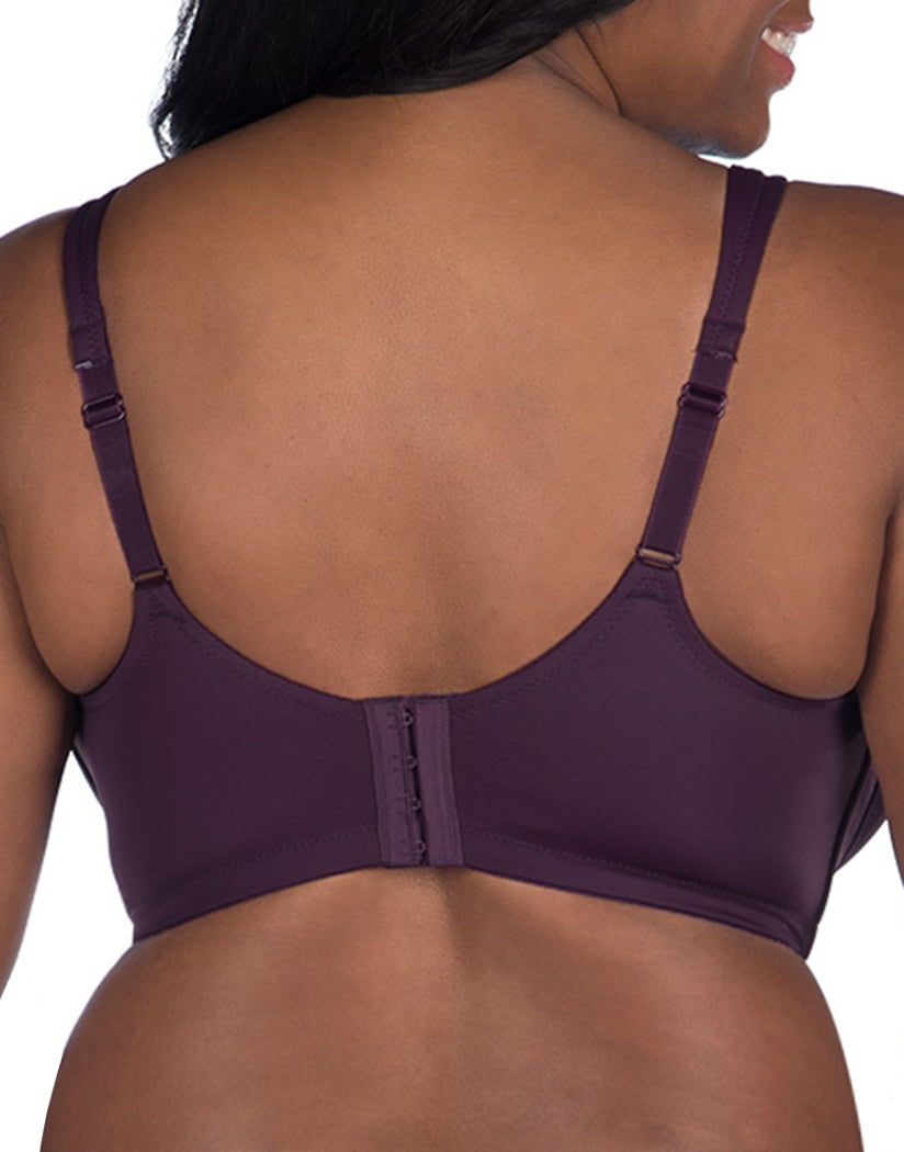 Blackberry Wine Back Leading Lady The Brigitte Full Coverage Wirefree Seamless T-Shirt Bra Blackberry Wine 5042